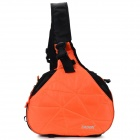 CADEN A0023 Outdoor Nylon Single Shoulder Camera Bag w/ Rain Cover - Orange + Black