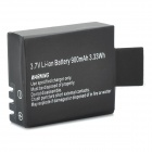 Replacement 3.7V 900mAh Li-ion Battery for SJ4000 Wi-Fi HD Sports Camcorder Camera - Black