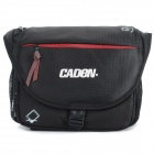 CADEN D4 Outdoor Nylon Single Shoulder Camera Bag w/ Rain Cover - Black