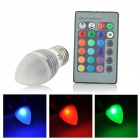 UItraFire E27 3W 70lm 1-LED RGB Light Crystal Lamp - Silver + White (AC 85~265V)