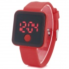 SHIFENGMEI SF-0001 Stylish Silicone Band Digital LED Sports Wristwatch - Red (1 x 2016)