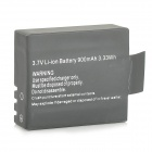 Replacement 3.7V 900mAh Li-ion Batteries for SJ4000 Wi-Fi HD Sports Camcorder Camera - Black (2 PCS)