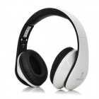 Bingle I680 3.5mm Wired Headband Headphone w/ Microphone / Remote - White + Black