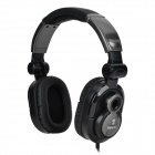 Bingle B-850-M Foldable 3.5mm Wired Headband Hi-Fi Stereo Headphone w/ Mic. - Black + Deep Grey