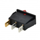 SZGAOY 14080301 2-Mode Electrical Switch w/ Red Indicator - Black + Red