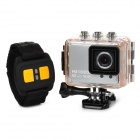 "AT200 1.5"" TFT Screen 1/5"" CMOS 5.0MP Wide Angle Sport Camera DVR w/ Remote Control / Wi-Fi - Silver"