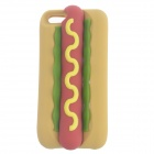 Novelty Hamburg Style Protective Silicone Back Case for IPHONE 5 / 5S - Yellow