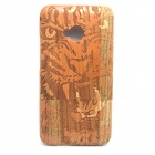 Lion Pattern Detachable Protective Wood Back Case for HTC ONE M7
