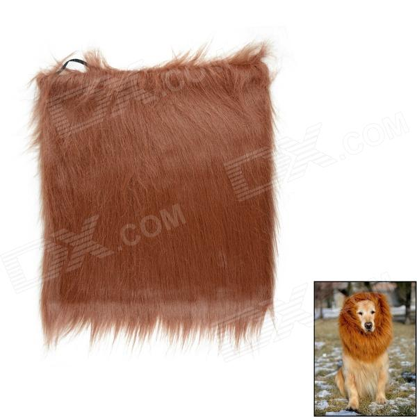 Lion Cosplay Artificial Wool Wig for Pet Dog - Dark Brown a cat that doesn t like its home