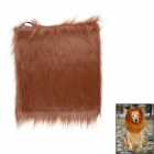 Lion Cosplay Artificial Wool Wig for Pet Dog - Dark Brown