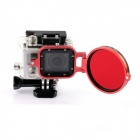 PANNOVO 58mm Underwater Color-Correction Filter Dive Filter w/ Flip Converter for GoPro Hero 3