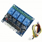 HF 4-Channel Relay Switch Module w/ Cable - Blue