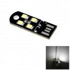 HONSCO USB Powered 1W 45lm 4x2835 SMD LED 6000K White Light Tiny Lamp Bulb