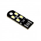 HONSCO USB Powered 1W 45lm 4-SMD LED 6000K White Light Tiny Lamp Bulb