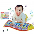 Children's Fish Shaped Crawling Mat Blanket Educational Music Toy - Yellow + Multicolored