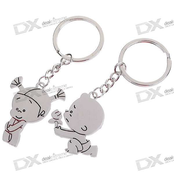 Cute Kid Kirksite Couple's Keychains (Pair)