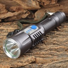 500lm 5-Mode White Light Flashlight w/ Strap / Cree XM-L2 T6 - Purple Grey (1 x 18650)