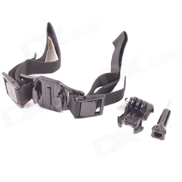 PANNOVO Helmet Hand Strap Mount w/ Quick Assemble Plug for Gopro Hero 4/ / 2 / 3 / 3+ / SJ4000