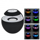 BTS-16 Bluetooth V3.0 Car Speaker w/ 3.5mm Jack / Microphone / Micro USB - Black