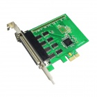 IOCREST SI-PEX15041 XR17V358 PCI-Express to 8-Port Serial Controller Card w/ Fan Out Cable - Green