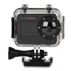 "BYY-I254 Water Resistant HD 1080P 1.3"" LCD 1/2.5"" CMOS 5.0MP Sport Cubic Camera - White + Black"