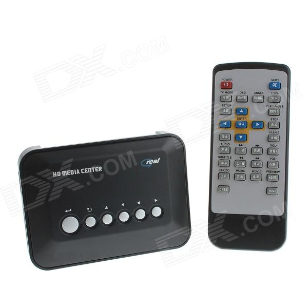 Mini720P HD Media Player w/ SD / YPrPb / USB 2.0 - Black