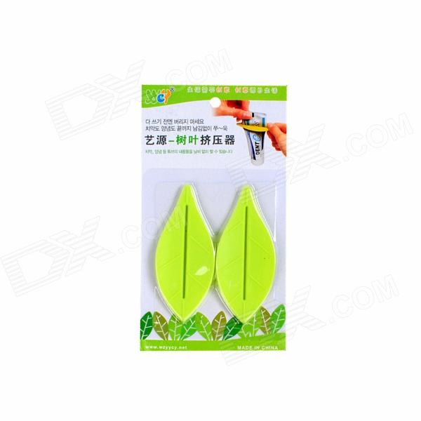 Handy Plastic Toothpaste Dispensers - Green (2 PCS)