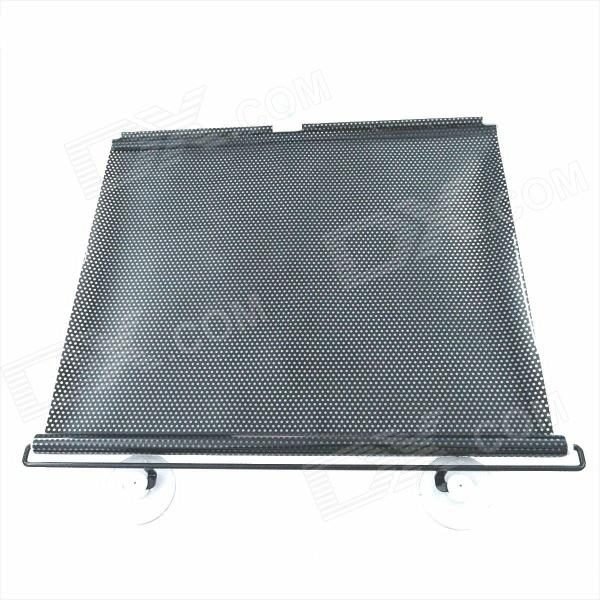 Carking Retractable Car Window Sunshade Shield Visor Curtain - Black (50 x 125cm / 2PCS) auto rain shield window visor car window deflector sun visor covers stickers fit for toyota noah voxy 2014 pc 4pcs set