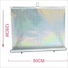 Carking Retractable Car Window Sunshade Shield Visor Curtain - Silver (50 x 125cm / 2PCS)