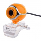 RAYANTS Q-388 Wired 8.0MP HD Webcam w/ Night Vision - Orange + Transparent (Cable-130cm)