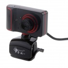 RAYANTS C-003 Wired 8.0MP HD Webcam w/ Night Vision Light / Microphone - Red + Black