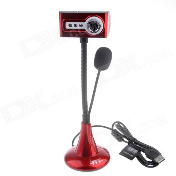 RAYANTS V50 12.0MP HD Wired Webcam w/ Night Vision Light / Micphone - Red + Black (Cable-130cm)
