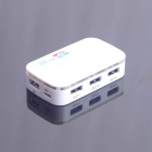 USB 3.0 4-Port High-Speed Hub w/ USB Cable - White