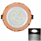 Marsing TD-381 5W 500lm 6500K 5-LED White Light Ceiling Lamp - White + Golden (AC 85~265V)