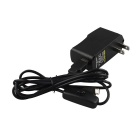 DC 5V 2A Power Adapter for Raspberry Pi B/B+ and Cellphone w/ USB Switch Cable - Black
