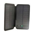 Universal Dual USB 5V 10000mAh Solar Powered Li-polymer Battery Power Bank - Black