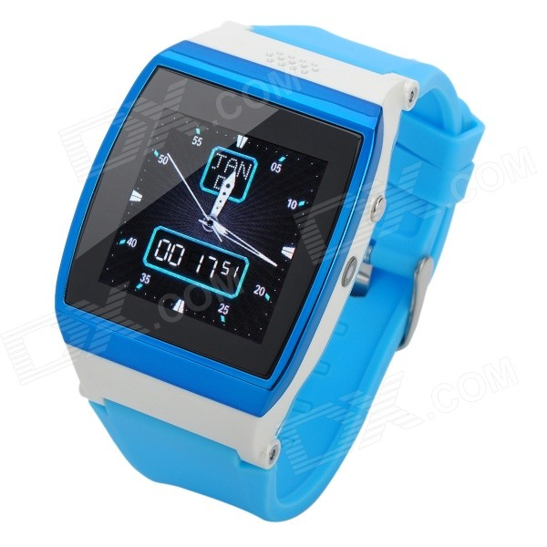 Uwatch UPRO 1.55 Screen GSM Watch Phone w/ Quad-band, SIM Card, 300KP Camera - Blue + White электросамокат el sport booster upro 36v 8ah