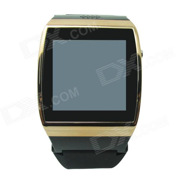 Uwatch UPRO  1.55 Screen GSM Watch Phone w/ Quad-band, SIM Card, 300KP Camera - Black + Golden i5 gsm watch phone w 1 8 resistive screen quad band fm and single sim black