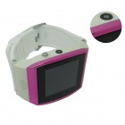 "Uwatch UPRO 1.55"" Screen GSM Watch Phone w/ Quad-band, SIM Card, 300KP Camera - White + Deep Pink"