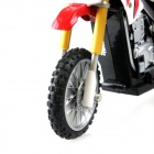 Knight Simulation Model 4-Channel Remote Control Motorcycle - Red + White