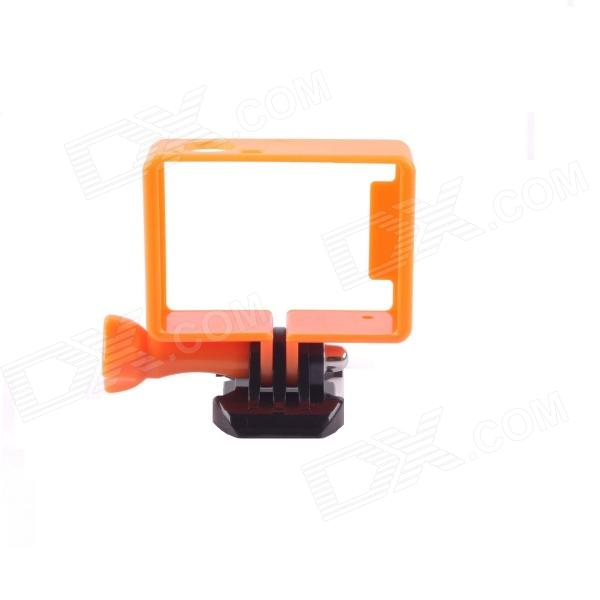 PANNOVO G-549BB Plastic Protective Side Frame w/ Screws + Push Buckle for GoPro Hero 3 / 3+ - Orange