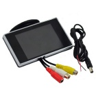 "Carking YG-350 3.5"" LCD Parking Monitor for Car w/ 2-CH Video Input - Black + Silver"