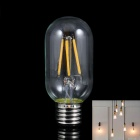 KINFIRE 4WW E27 4W 300lm 3000K Warm White 4-LED Filament Bulb - Transparent (AC 220V)