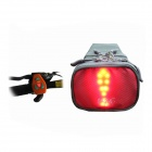 Bikeman YKWB1018 Bicycle Remote Control Signal Light Indication Holder Tail Bag - Red + Grey