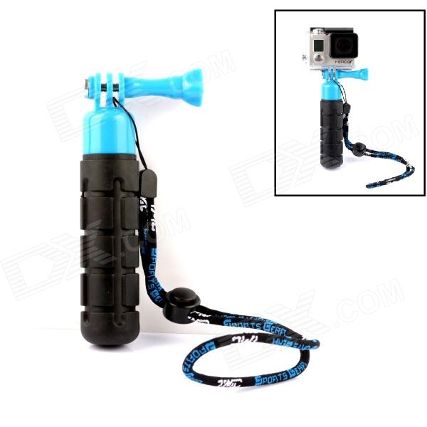 TMC G-546BB Handheld ABS + Rubber Stabilizer Grip w/ Strap for Gopro Hero 4/3+/3/2 - Blue + Black tmc g 546 handheld abs rubber stabilizer grip w screw strap for gopro hero 4 3 3 2 black