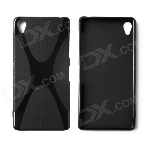 "X"" Style Protective TPU Back Case for Sony Xperia Z3 - Black"