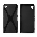 """X"" Style Protective TPU Back Case for Sony Xperia Z3 - Black"