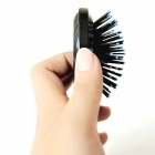 Make-up Folding Mirrors with Telescopic Airbags Massage Comb - Black