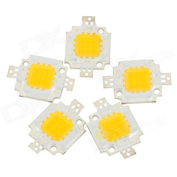 JRLED JR-LED-10W-F 10W 800lm 3300K 9-LED Warm White Emitter Board - Silver + Yellow (10~11V / 5 PCS)