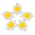 Buy JRLED JR-LED-10W-F 10W 800lm 3300K 9-LED Warm White Emitter Board - Silver + Yellow (10~11V / 5 PCS)